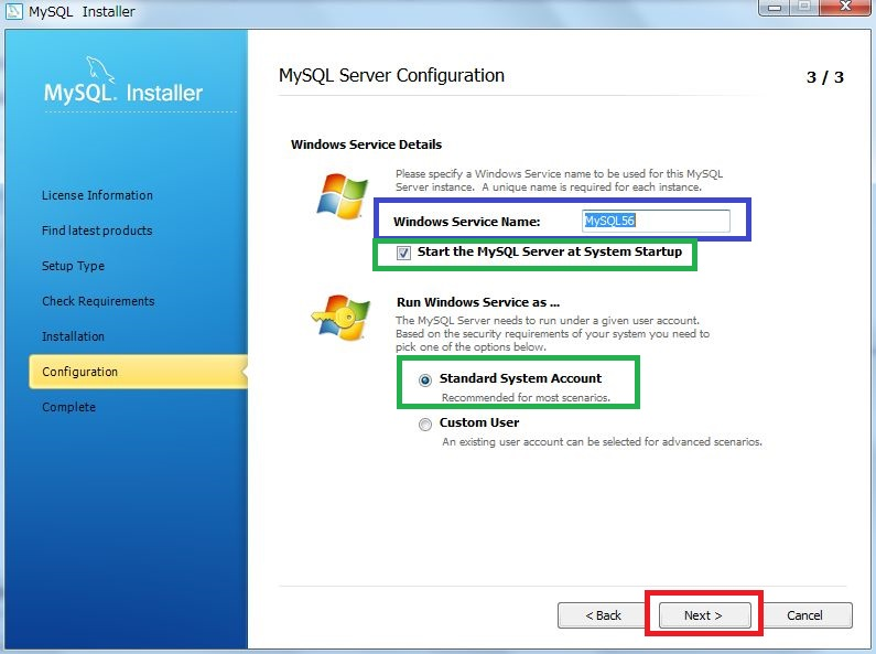 MySQL Server Configuration3