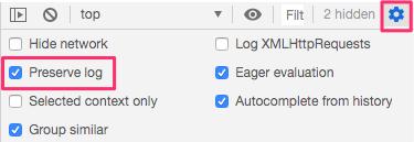 Chrome developer toolsで実行結果のログを残したい場合
