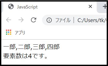 JavaScriptのunshiftメソッドを使って、配列の先頭に要素を追加するサンプルプログラム