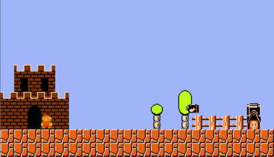 Pythonで作成されたゲームの1つ、初代マリオブラザーズ