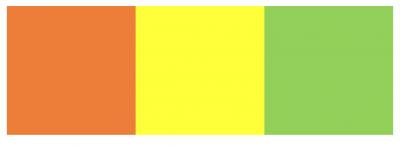 オレンジ、黄色、緑の画像