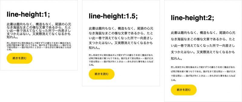 line-heightの設定